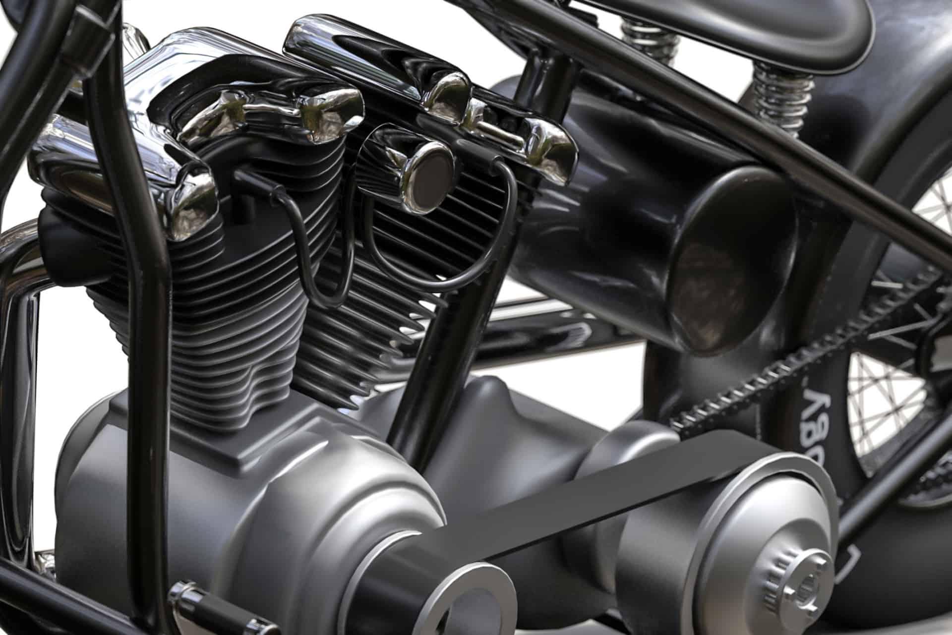 3D Rendering Harley Davidson Custombike