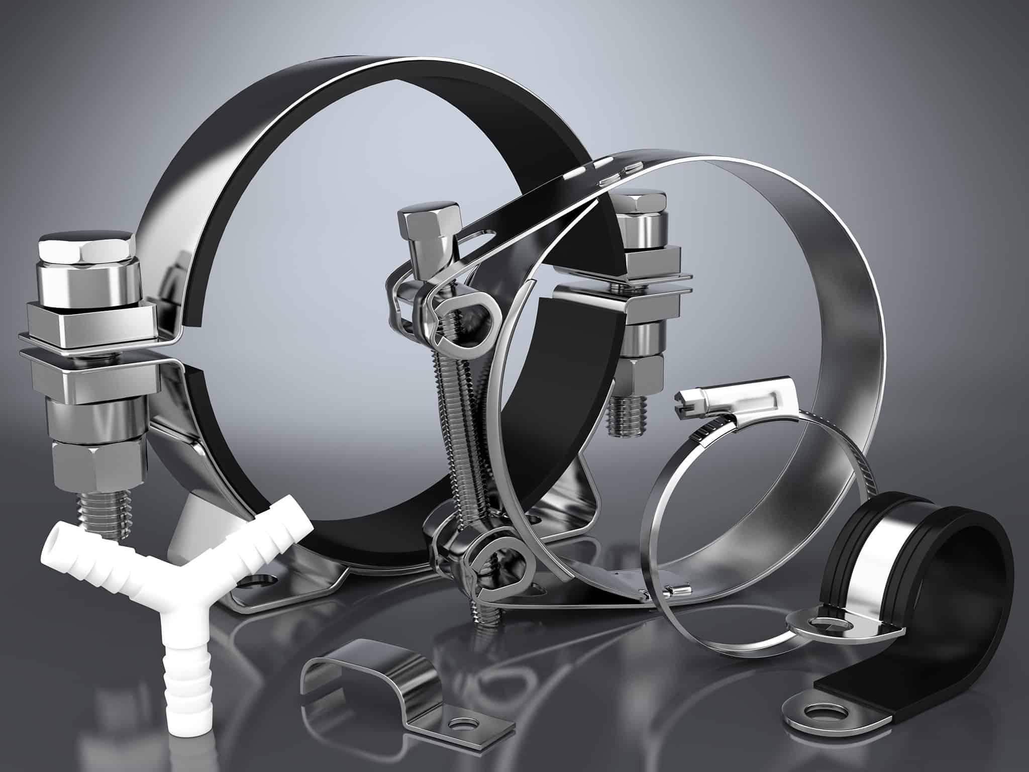 Arrangement von 3D Darstellungen aus dem Bereich Hydrauliktechnik